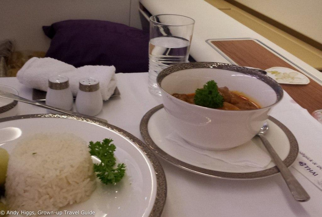 Thai First Class A380 Main course