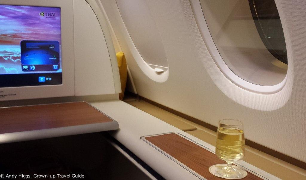 Thai First Class A380 to Frankfurt on tarmac