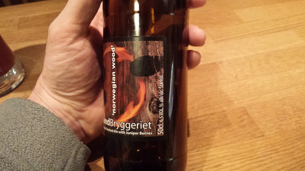 Grown-up Travel Guide Beer Diary Day 39: Norwegian Wood smoked ale by Haandryggeriet, Drammen, Norway - right