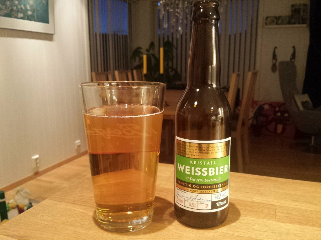 Grown-up Travel Guide Beer Diary Day 89: Weissbier from Macks Ølbryggeri of Norway