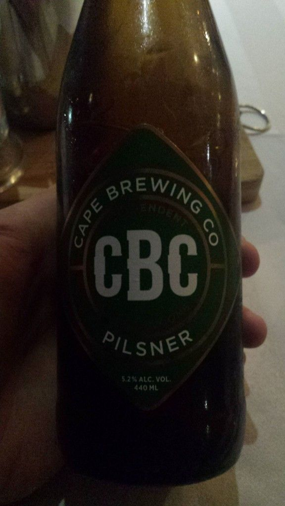 Grown-up Travel Guide Beer Diary Day 117: CBC Pilsner from Cape Brewing Company of Suider Paarl, South Africa
