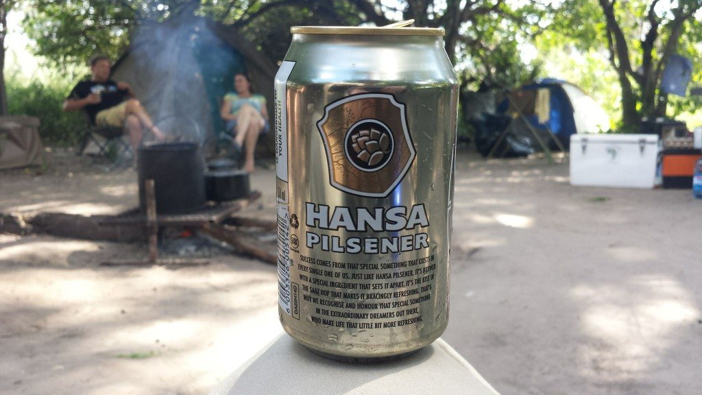 Grown-up Travel Guide Beer Diary Day 108: Hansa Pilsener from Kgalagadi Brewers Ltd of Gabarone, Botswana - back