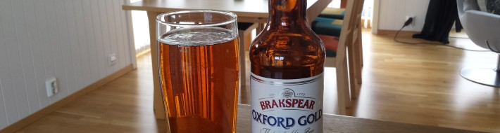 Grown-up Travel Guide Beer Diary - Day 129: Oxford Gold from The Brakspear Brewing Company of Oxfordshire, England