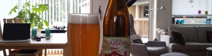 Grown-up Travel Guide Beer Diary - Day 156: India Saison from Haandbryggeriet of Drammen, Norway