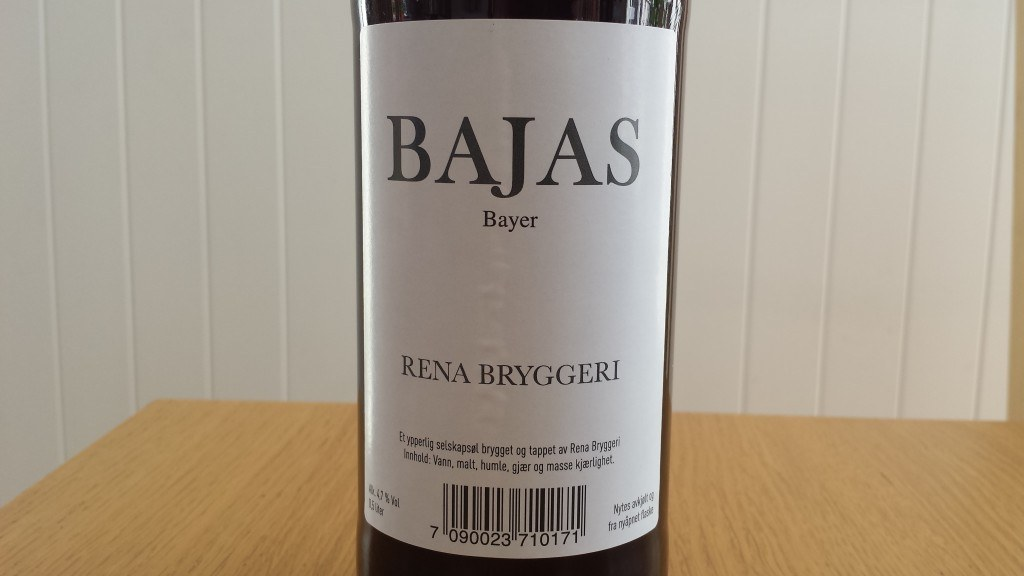 Grown-up Travel Guide Beer Diary - Day 170: Bajas Bayer from Rena Bryggeri of Rena, Norway