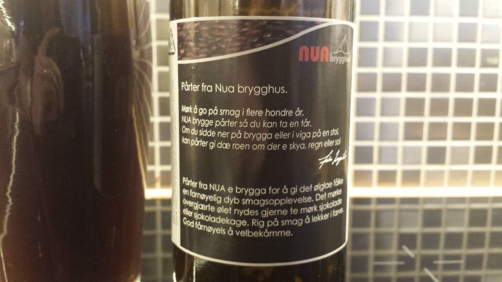 Grown-up Travel Guide Beer Diary - Day 174: Pårter from Nua Brygghus of Mandal, Norway