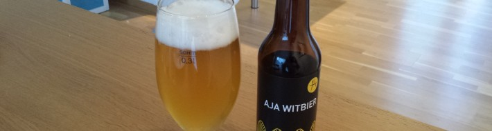 Grown-up Travel Guide Beer Diary - Day 184: Aja Witbier from Aja Bryggeri of Drammen, Norway