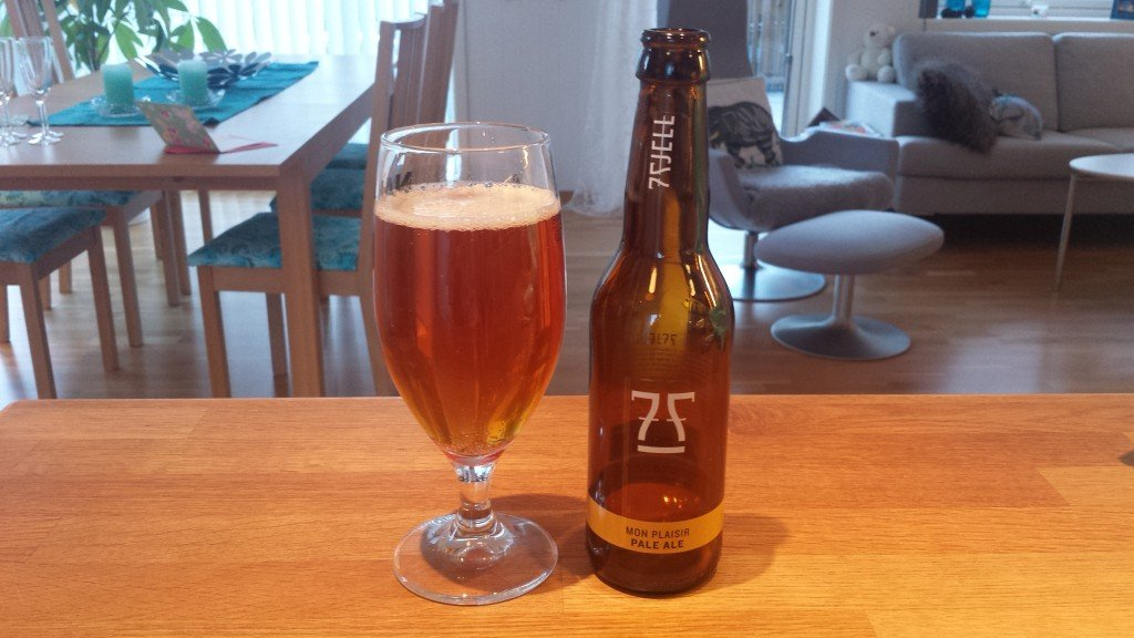Grown-up Travel Guide Beer Diary - Day 208: Mon Plaisir Pale Ale from 7 Fjell Bryggeri of Bergen, Norway
