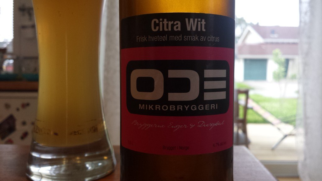 Grown-up Travel Guide Beer Diary - Day 211: Citra Wit from Ode Mikrobryggeri of Nordre Frogn, Norway