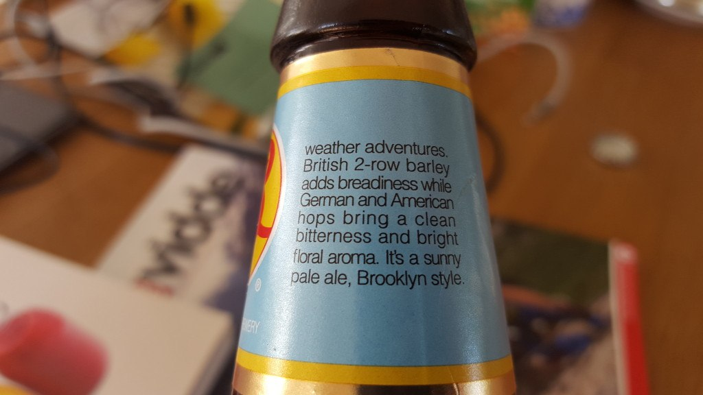 Grown-up Travel Guide Beer Diary - Day 222: Brooklyn Summer Ale from Brooklyn Brewery of New York, USA
