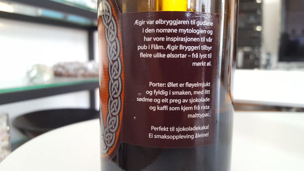 Grown-up Travel Guide Beer Diary - Day 229: Sumbel Porter from Ægir Bryggeri of Flåm, Norway