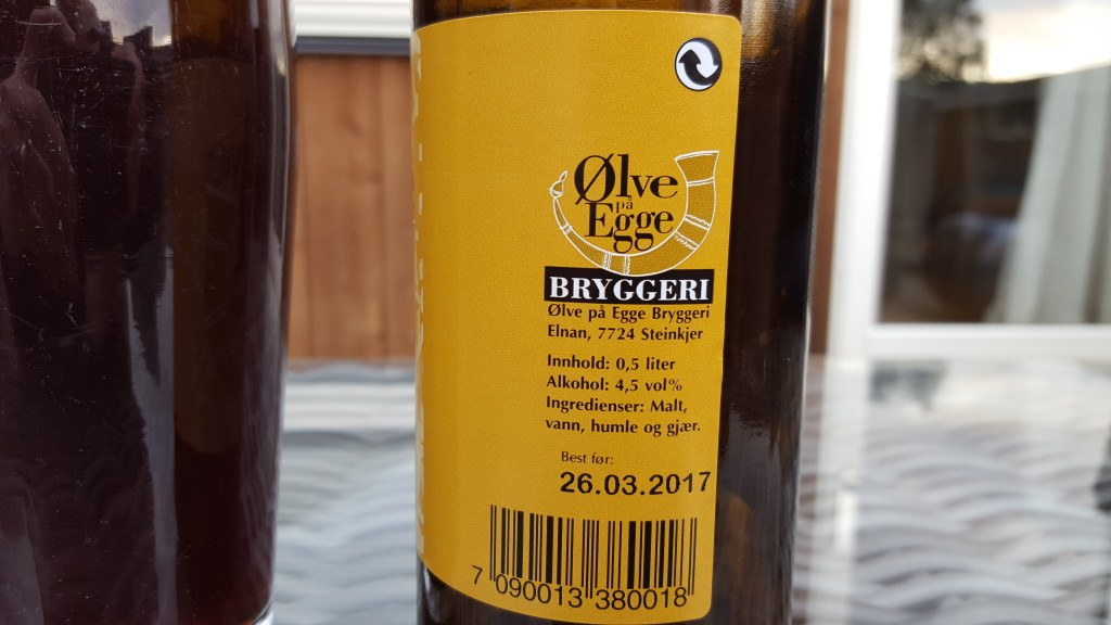 Grown-up Travel Guide Beer Diary - Day 230: Ølve på Egge from Ølve på Egge Bryggeri of Steinkjer, Norway