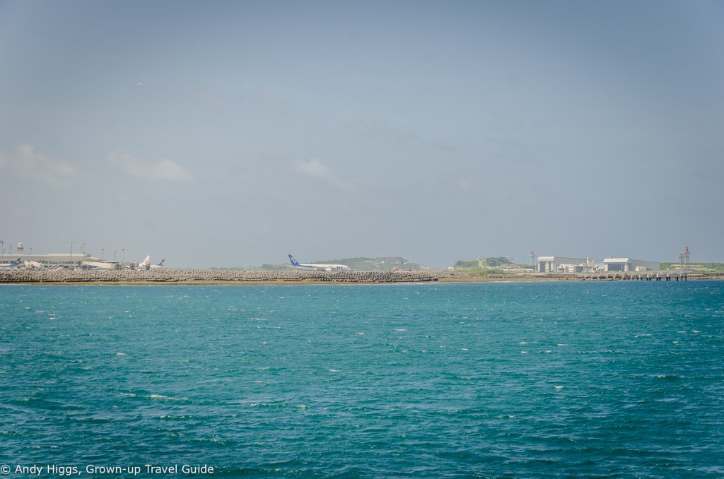 Ferry past airport