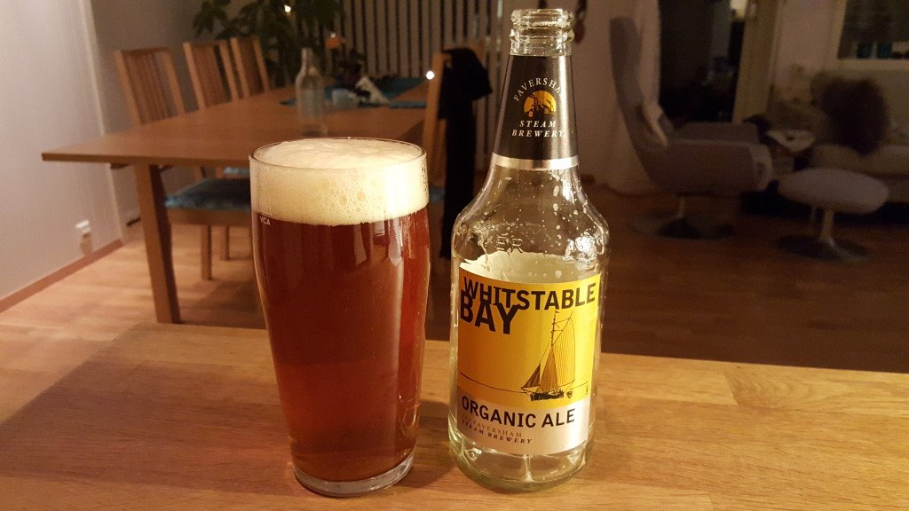 Grown-up Travel Guide Beer Diary - Day 318: Whitstable Bay Organic Ale from Shepherd Neame of Faversham, England