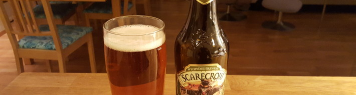 Grown-up Travel Guide Beer Diary - Day 320: Scarecrow Organic Golden Pale Ale from Wychwood Brewery of Witney, England