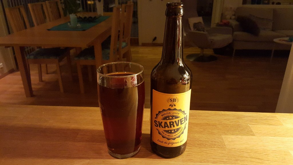 Grown-up Travel Guide Beer Diary - Day 327: Skarven from Stjørdalsbryggeriet of Stjørdal, Norway