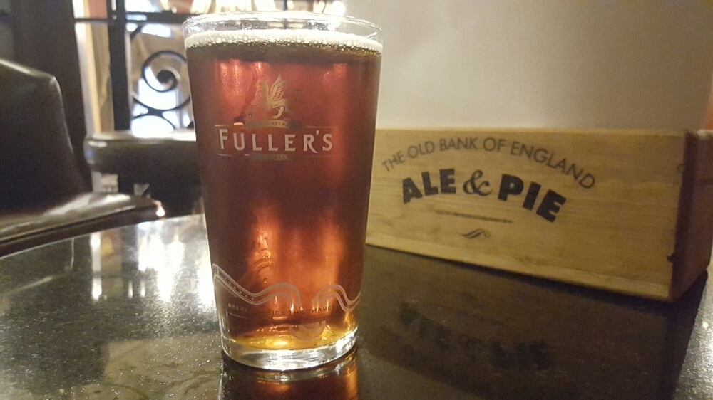 Grown-up Travel Guide Beer Diary - Day 310: Red Fox from Fuller's of London, England