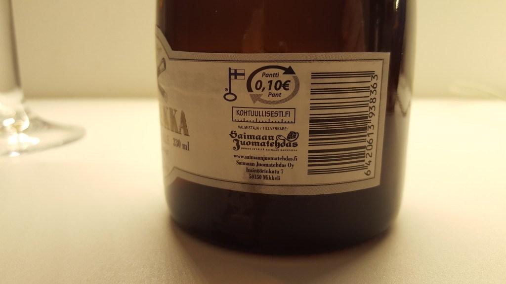 Grown-up Travel Guide Beer Diary - Number 386: Marsalkka Golden Ale from Saimaan Juomatehdas of Mikkeli, Finland
